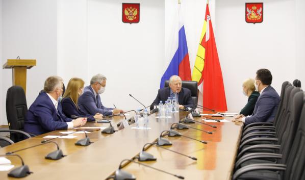 Рабочее совещание в Воронежской областной Думе.