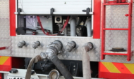 С огнем боролись два пожарных отделения.С огнем боролись два пожарных отделения.