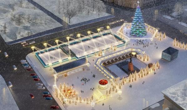 В Воронеже представили концепцию праздничного оформления площади Ленина к Новому году.