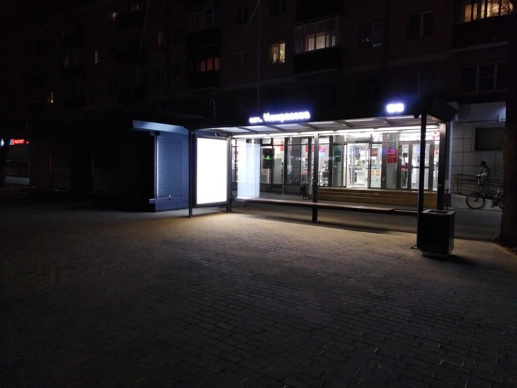 «Умная» остановка «Некрасова» в Воронеже.
