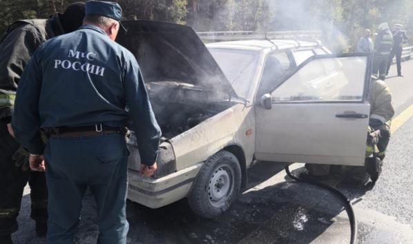ВАЗ-2109 потушили.