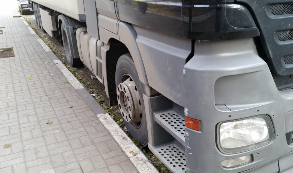 В Воронежской области полицейские помогли водителю фуры со сломанным двигателем