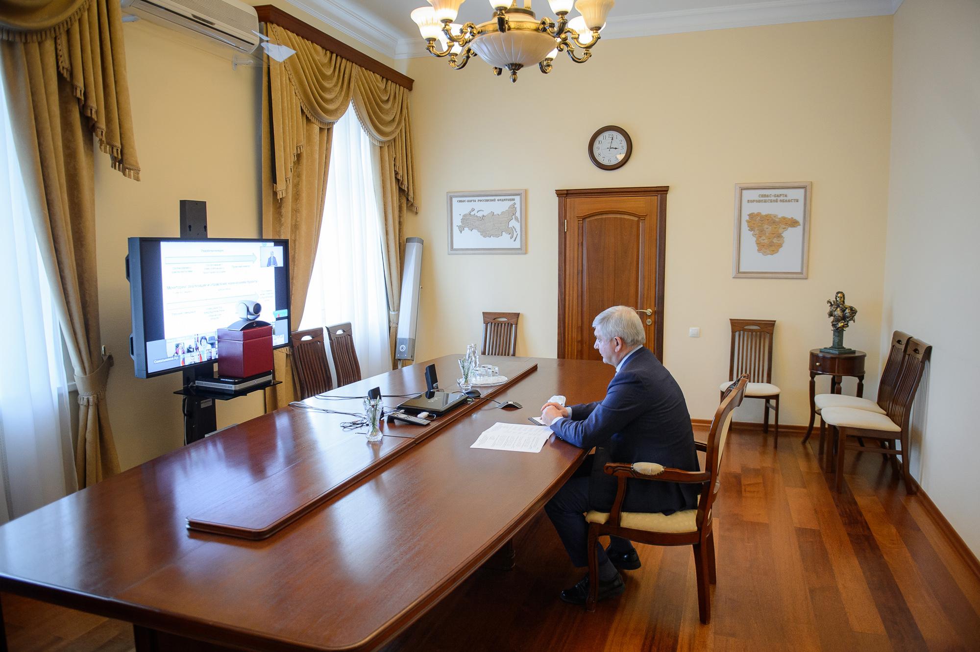 Александр Гусев провел заседание Совета по реализации национальных проектов на территории Воронежской области.