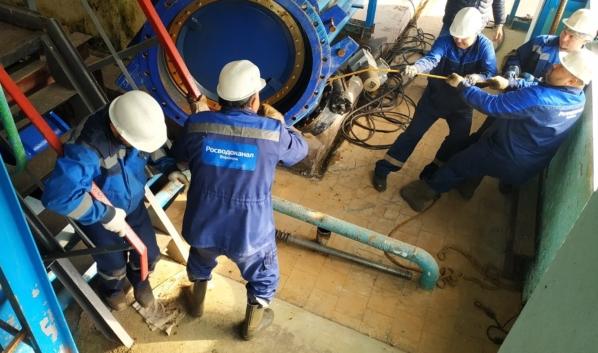 Работы на водоподъёмной станции в Железнодорожном районе.