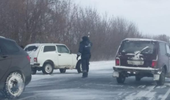 В Воронежской области госавтоинспекторы помогли водителям, попавшим в снежный плен.