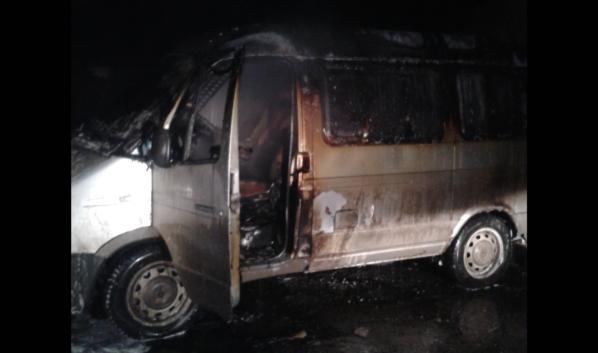 В Воронеже ночью сгорела иномарка.