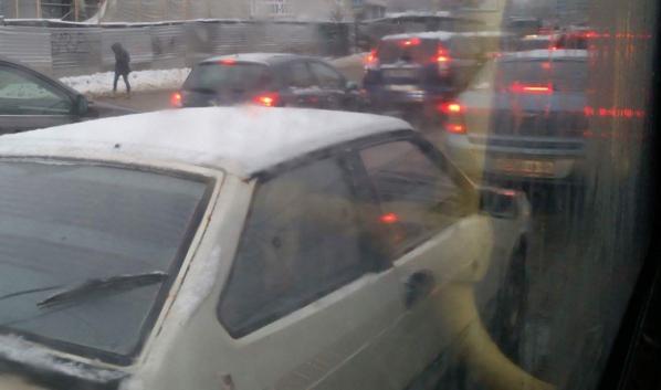 Пробки в Воронеже.