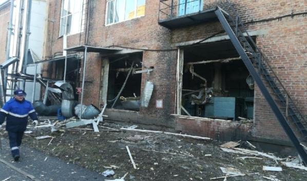 Случился взрыв на трикотажной фабрике.