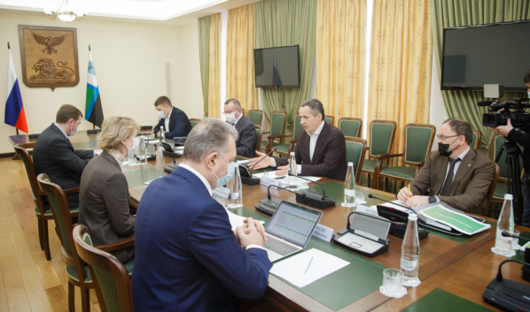 Встреча врио губернатора с новым главой Центрально-Черноземного банка.