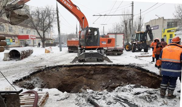 Коллектор на улице Циолковского.