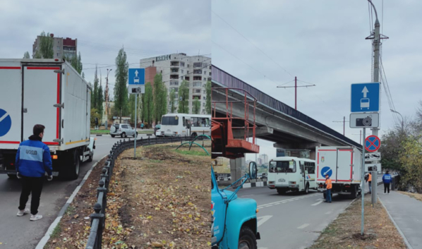Выделенная полоса в Воронеже.