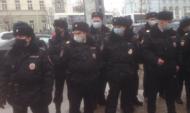 Полиция обеспечивает правопорядок на шествии в Воронеже.