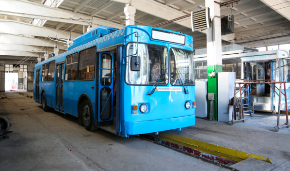 Троллейбус в Воронеже.