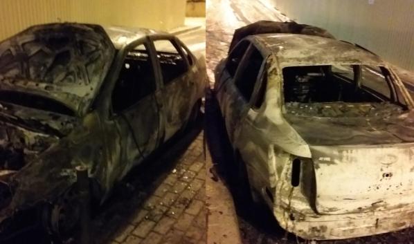 Машину сожгли.