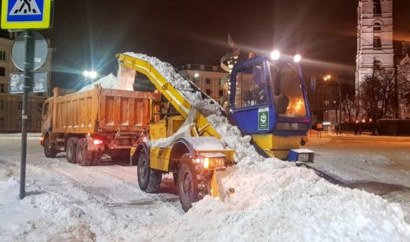 Уборка города от снега.