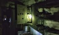 Пожар произошел в электрощитке.