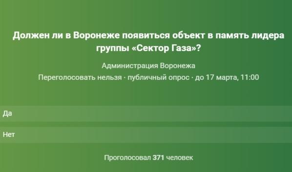 Власти запустили опрос.