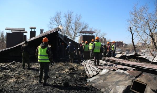 Восстановительные работы в доме на улице Еремеева.