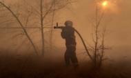 Тушение пожара в Воронеже.