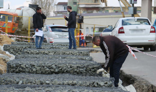 Реконструкция путепровода на улице Ленина.