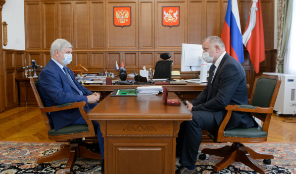Встреча Александра Гусева с Владимиром Кадуриным.