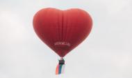 Флаг и необычный воздушный шар запустили в воронежское небо.