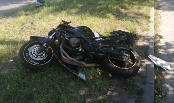 Водитель мотоцикла в больнице.
