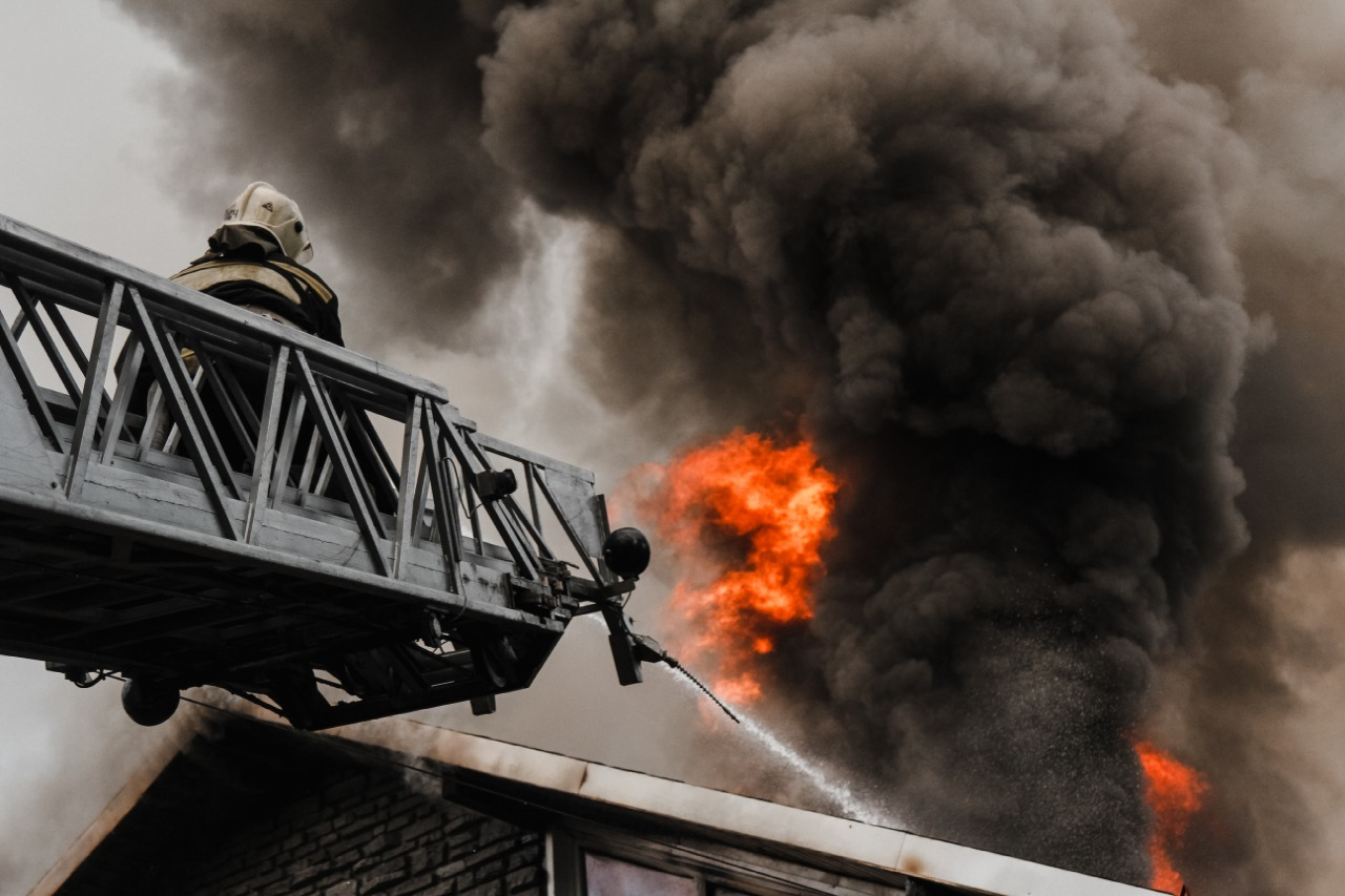 Пожар на проспекте Труда.