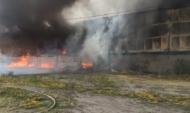 Пожар на заводе растительных масел.