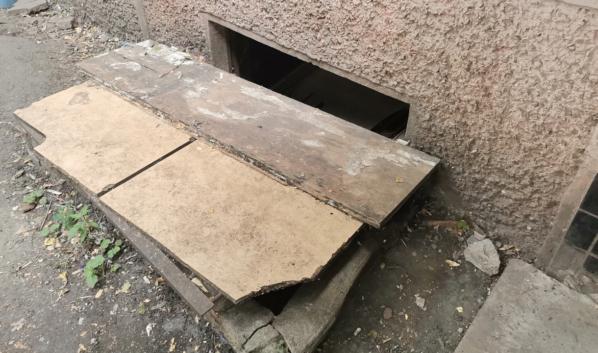 Подвал дома №10/2 на улице Беговой.