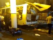 Автобус после взрыва.