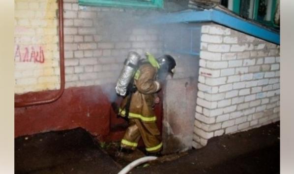 Пожар случился в подвале дома.
