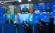 Владимир Путин на встрече с пятеркой лидеров списка «Единой России».