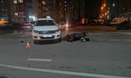 Скутер столкнулся с иномаркой.