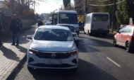 В аварии пострадала пассажирка маршрутки.