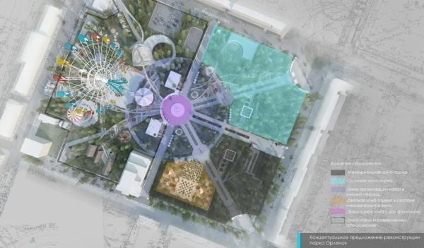 Схема организации обновленного парка.