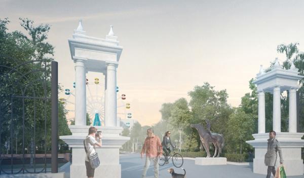 Проект обновленного парка.